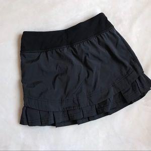 Ivivva Black Ruffle Set the Pace Skirt size 8